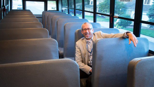 Littleton Superintendent Brian Ewert in his first day in the role in August 2015 (Denver Post file).