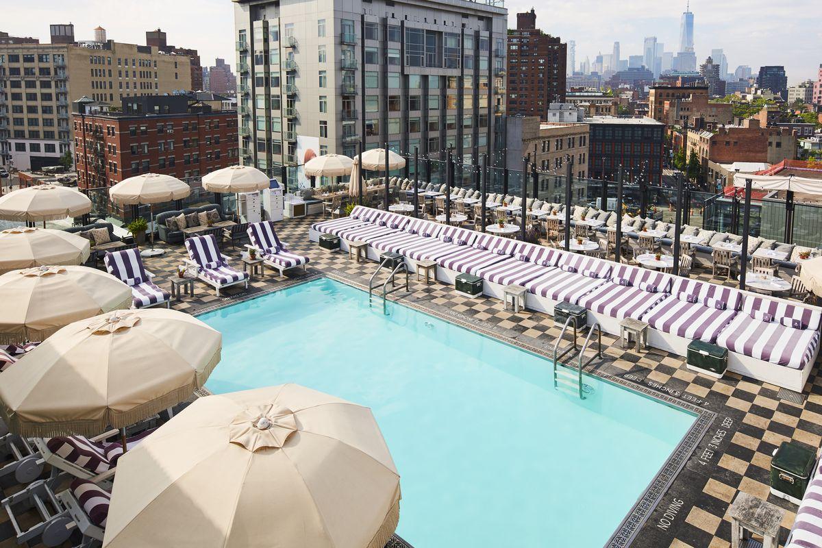 Soho House New York's rooftop pool