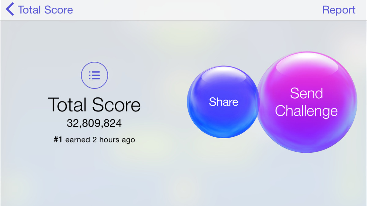 This is what it looks like when your Game Center friend is the best in the world.