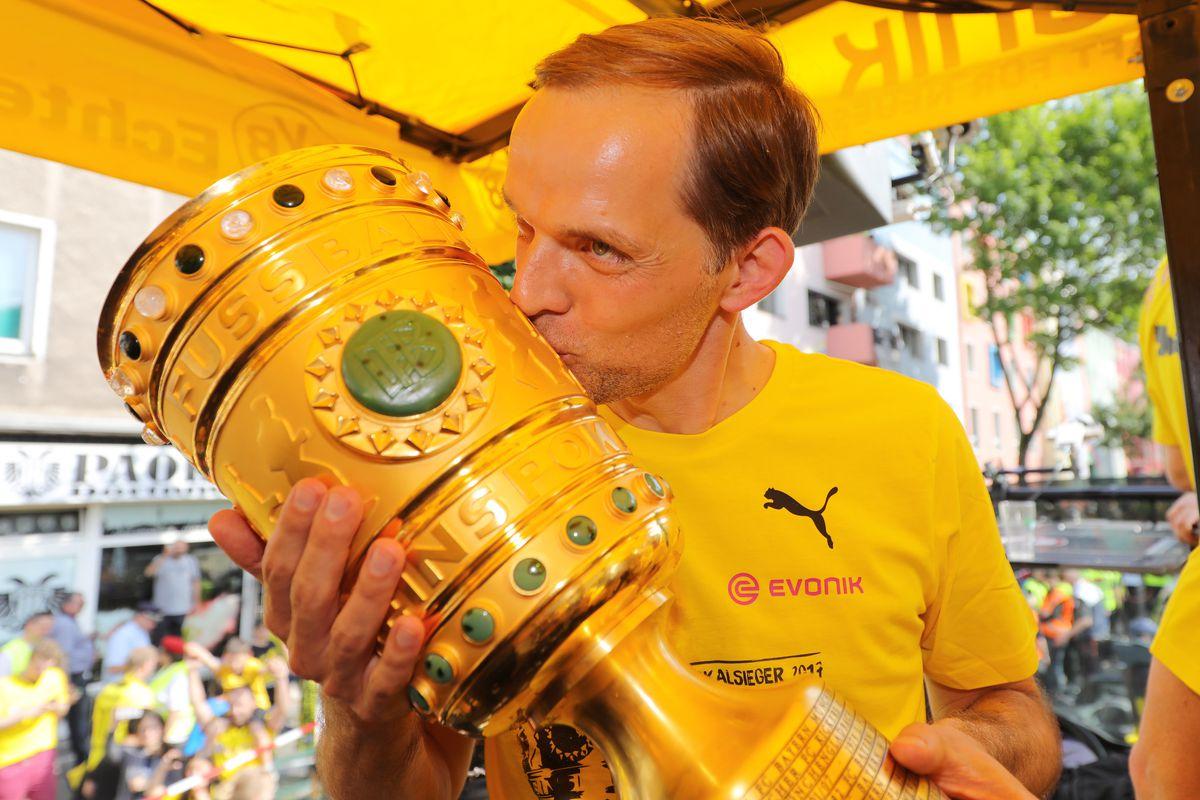 Borussia Dortmund Celebrates Winning The DFB Cup 2017