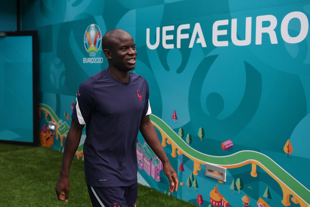 France Training Session and Press Conference - UEFA Euro 2020: Round of 16