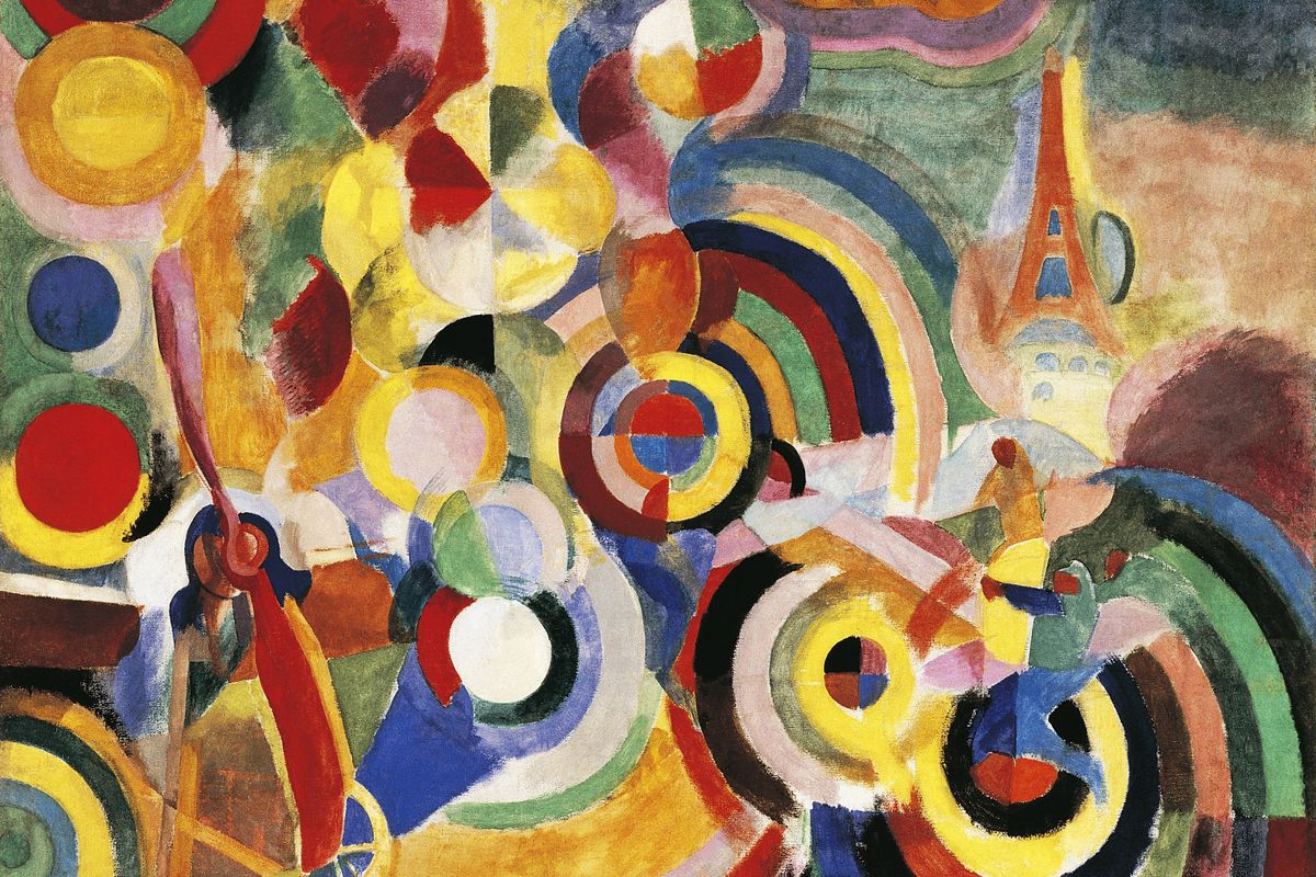 Homage to Bleriot, 1914, by Robert Delaunay