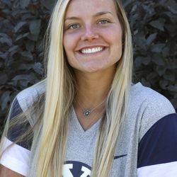 BYU soccer player Savanna Empey poses for a photo outside her home in Lehi on Tuesday, July 7, 2020.