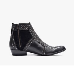 """<strong>Anine Bing</strong> Boots with Silver Studs, <a href=""""http://www.azaleasf.com/women/1402-Boots-w-Silver-Studs.html"""">$699</a> at Azalea"""