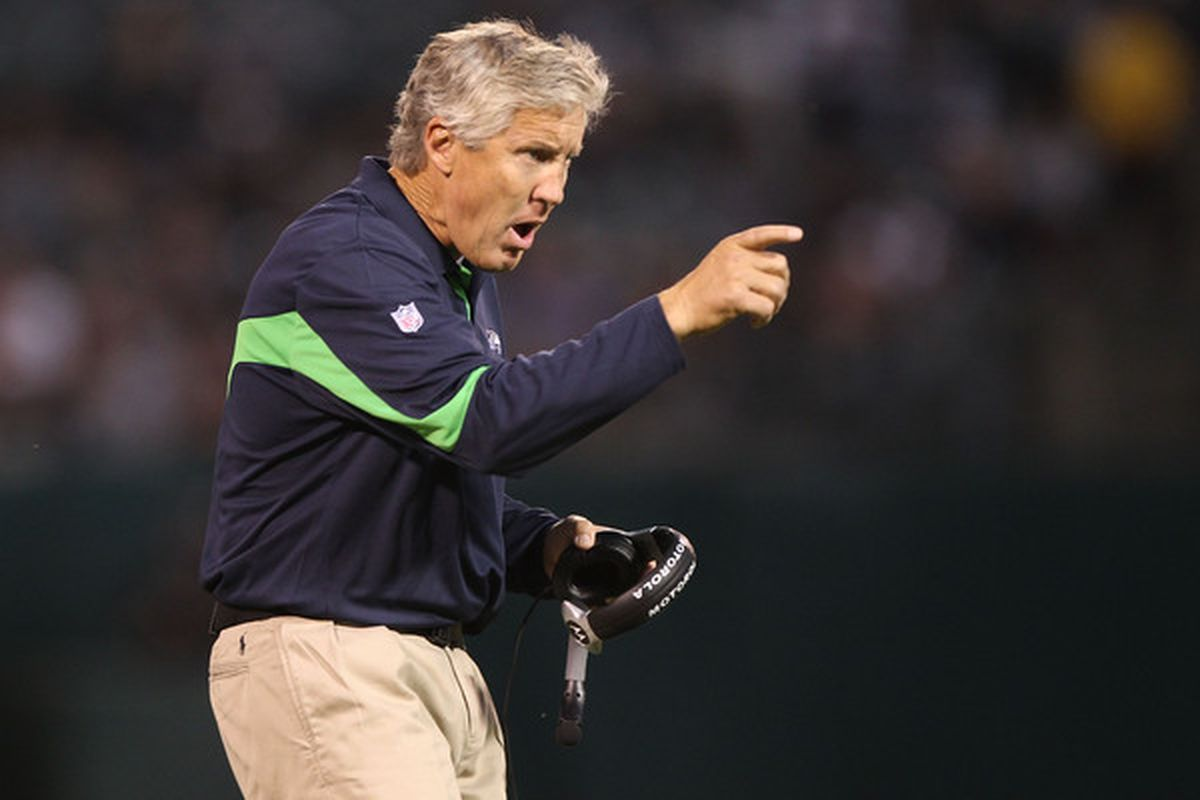 Pete Carroll is quickly becoming the old guy that wears his pants way too high.