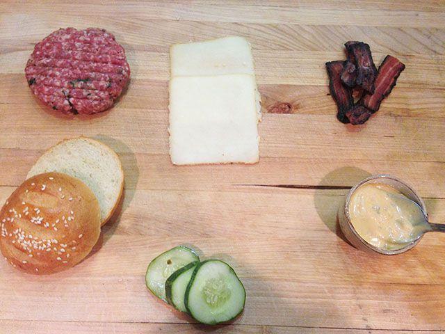 Tavern Road burger components