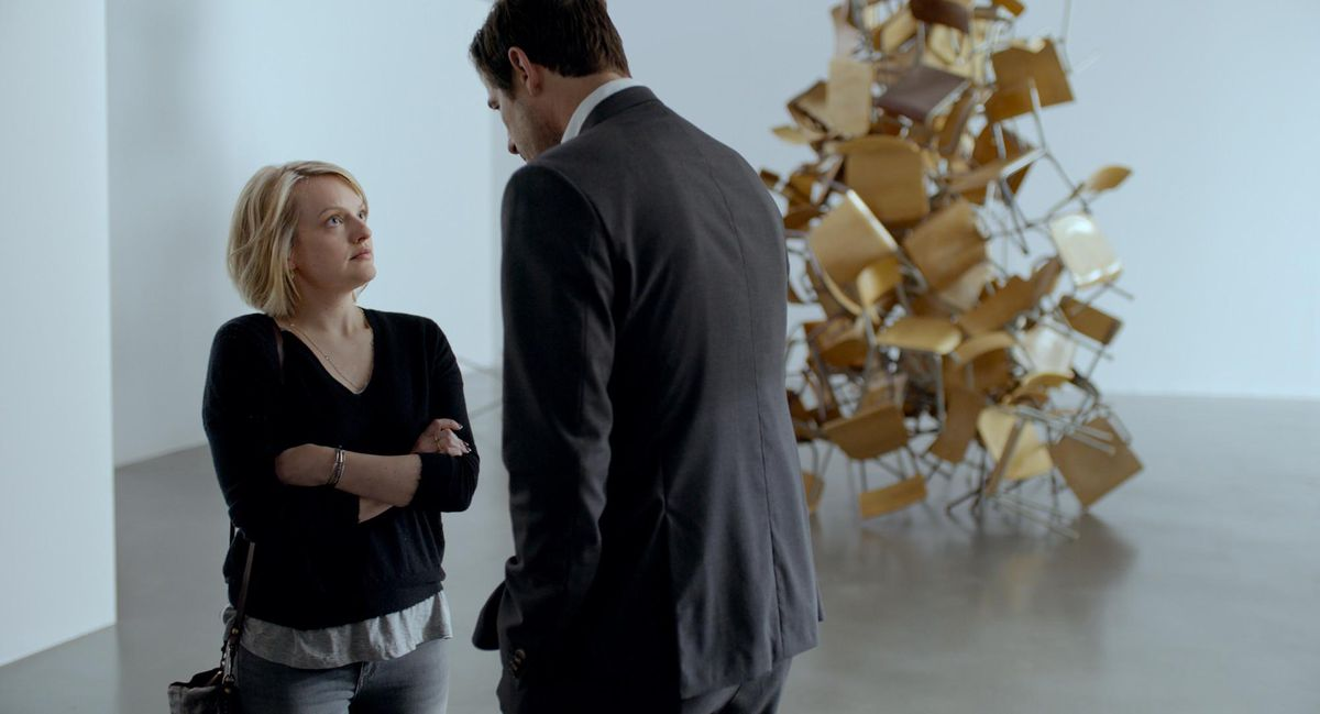 Elisabeth Moss and Claes Bang in The Square