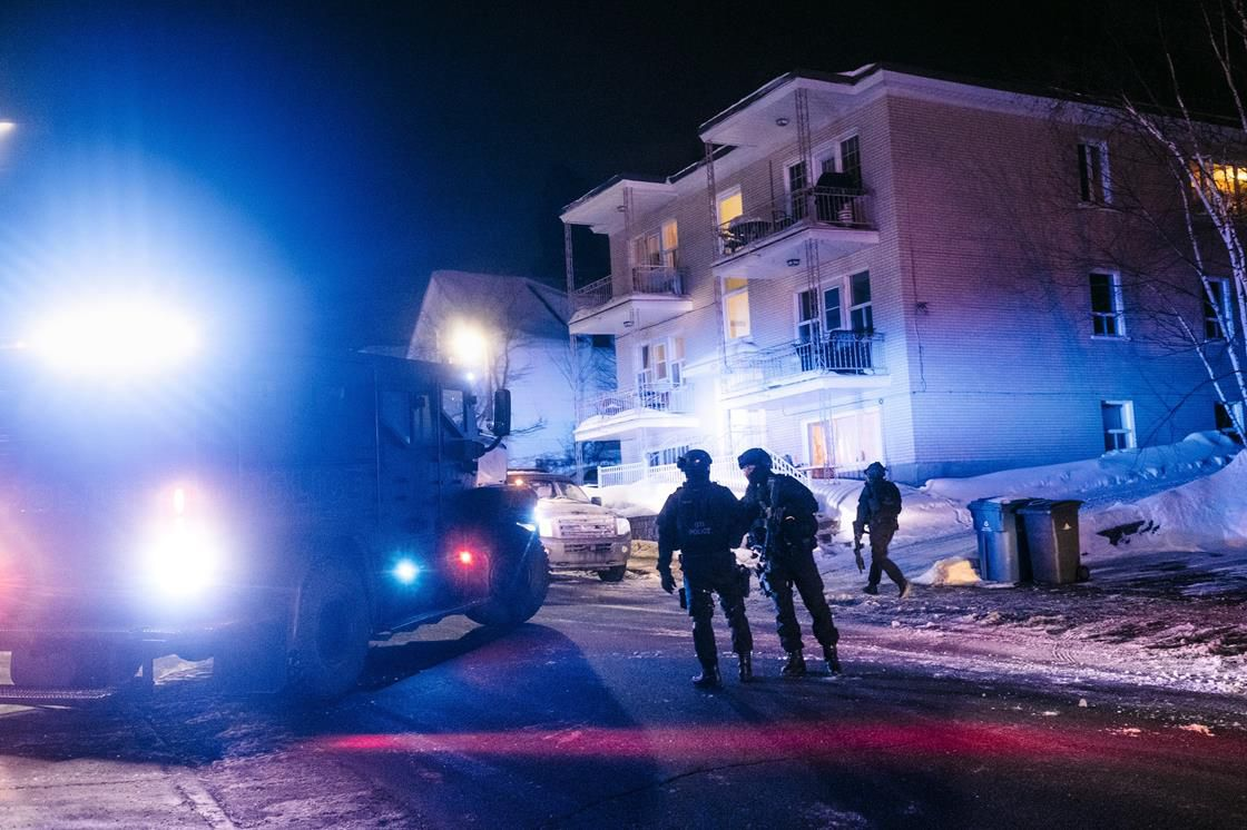 Canadian security forces in Quebec City after a gunman killed six Muslims at a prayer service on Sunday.