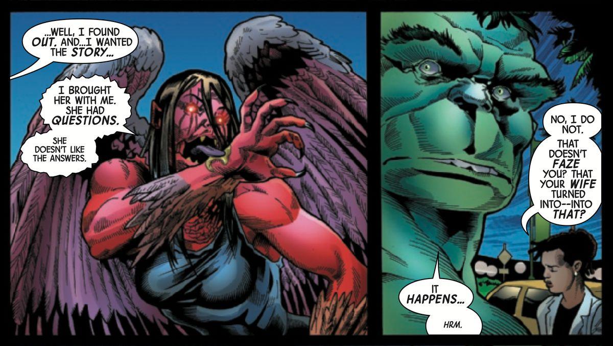 Hulk and Fury in The Immortal Hulk #20, Marvel Comics (2019).