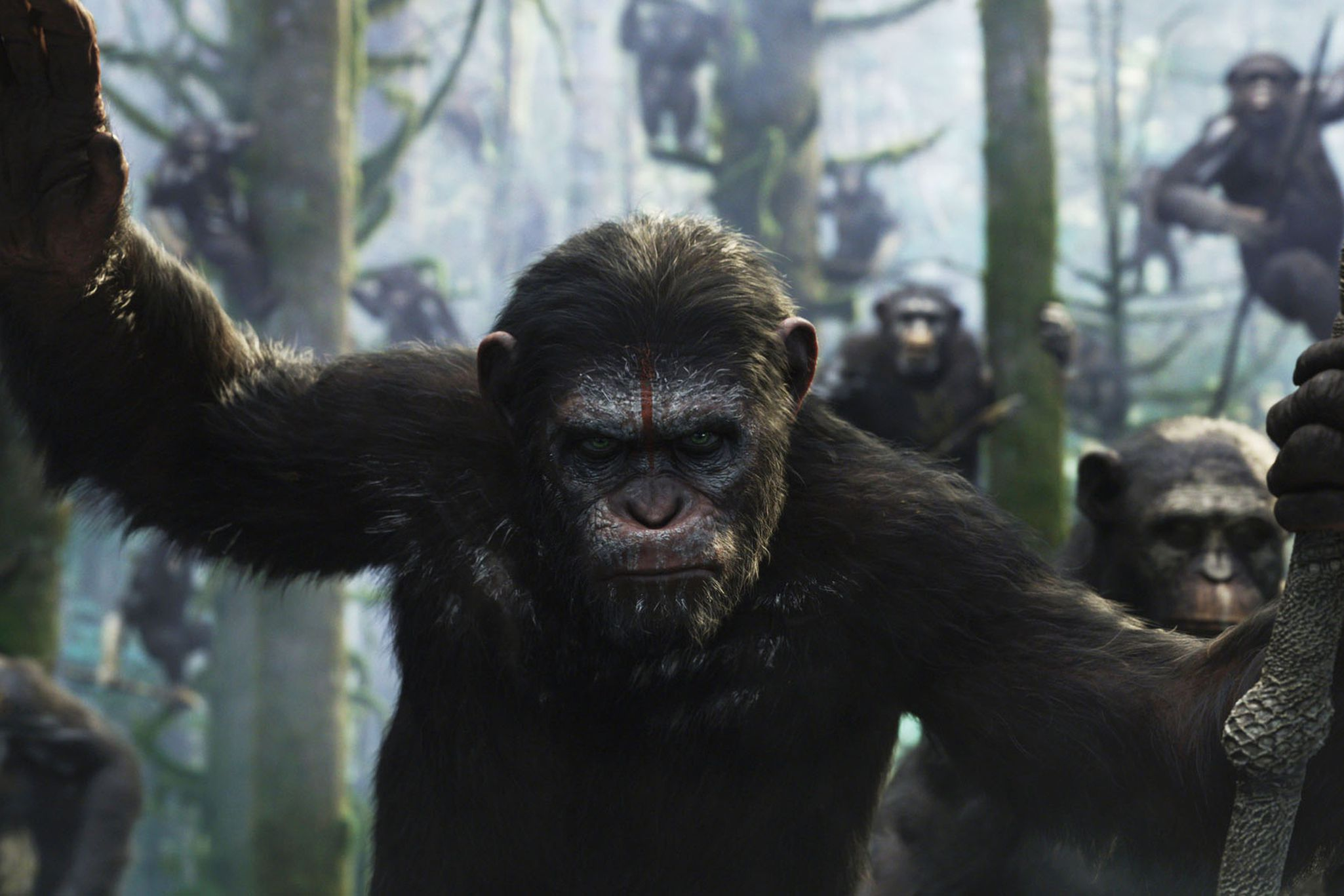 Dawn Of The Planet Of The Apes Review Damn Dirty Humans The Verge