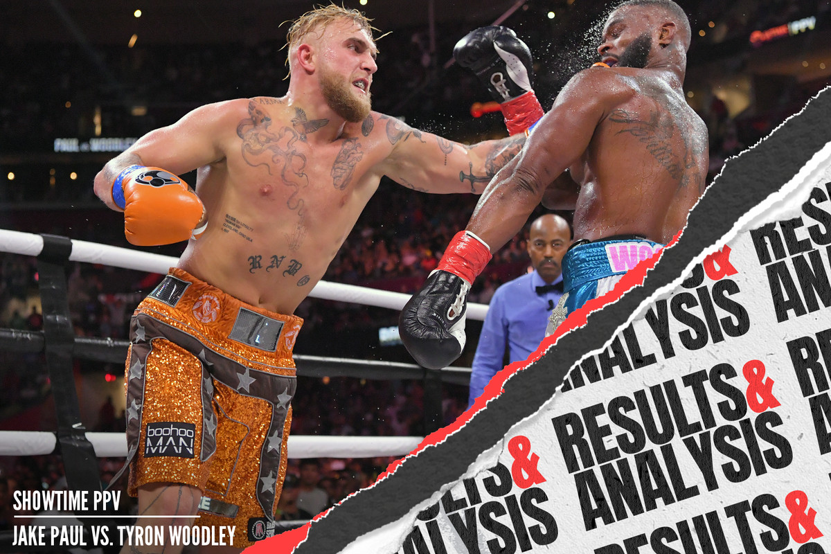 Jake Paul defeated Tyron Woodley by split decision in Cleveland, OH.