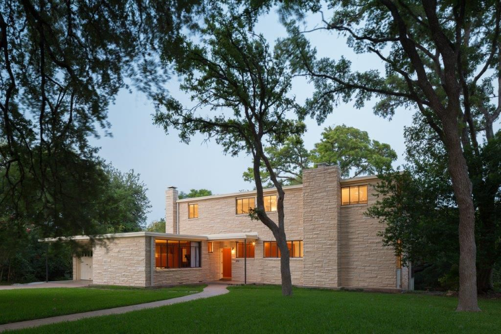 Photo of a restored midcentury modern home