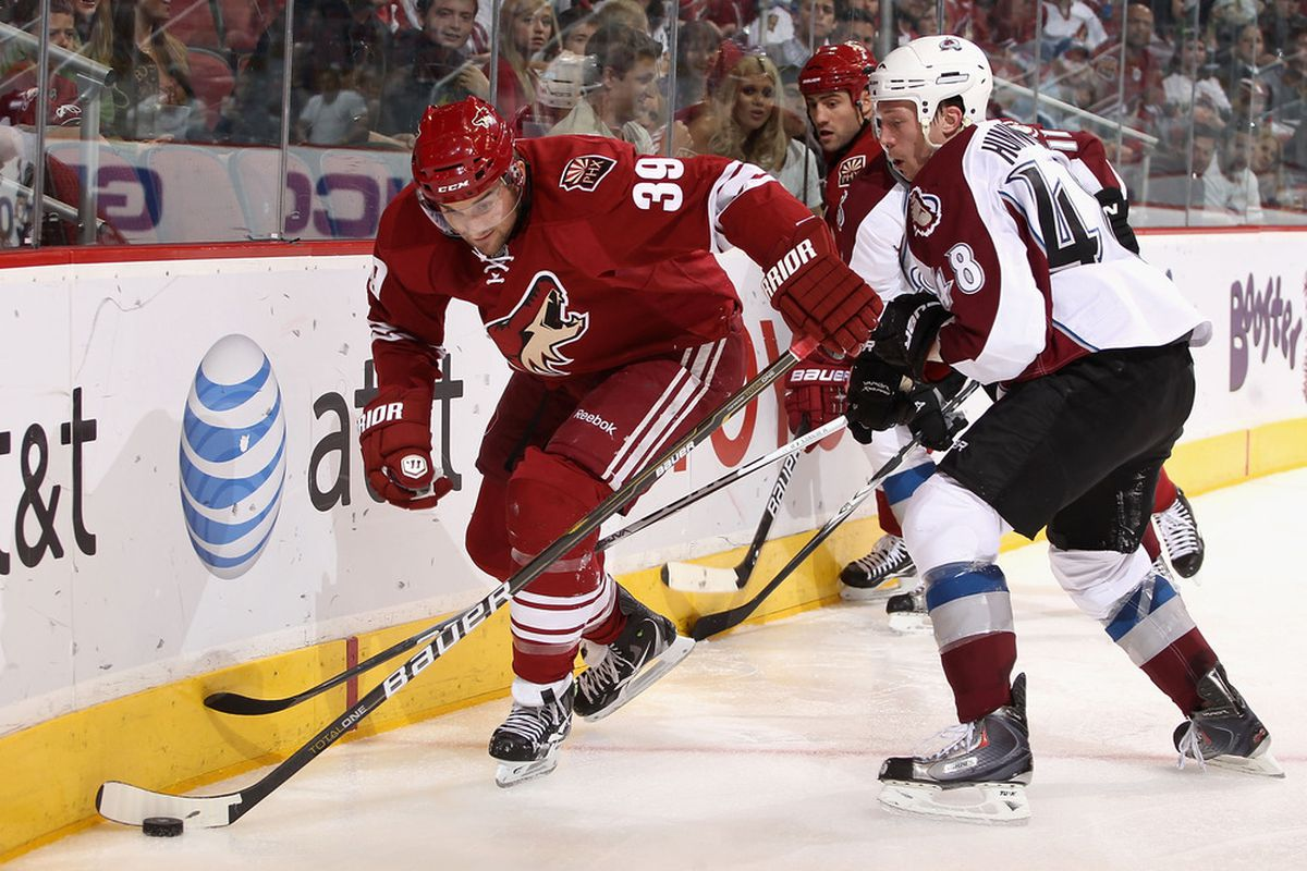 Brett MacLean is one of several young Coyotes that will likely see a lot more playing time on the wings this season.