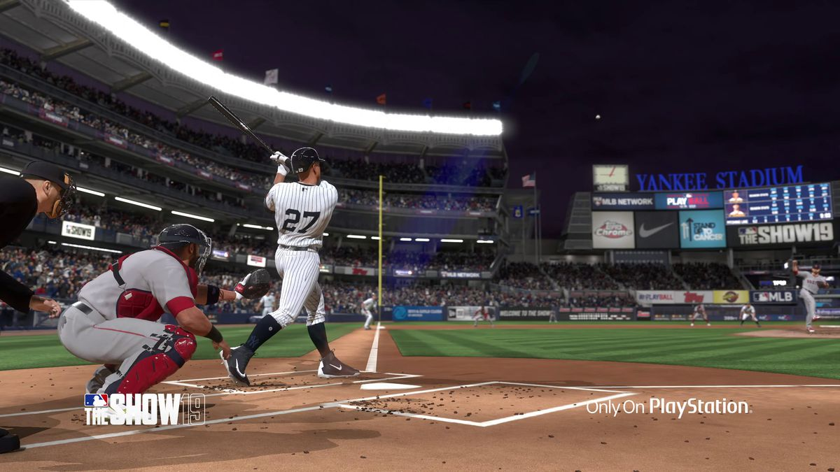 MLB The Show 19 - Giancarlo Stanton hits a home run at Yankee Stadium