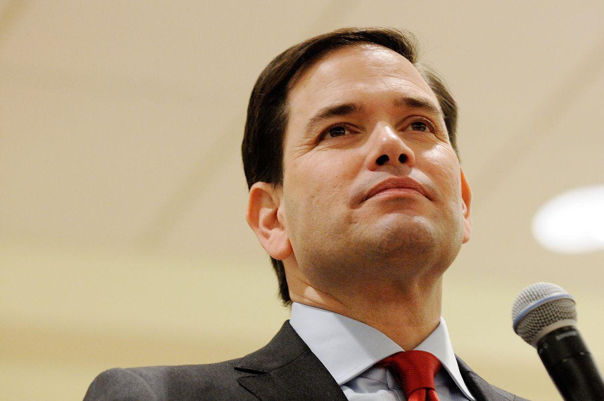 Rubio looking solemn