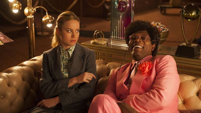 Brie Larson and Samuel L. Jackson lounging around in <em>Unicorn Store</em>.