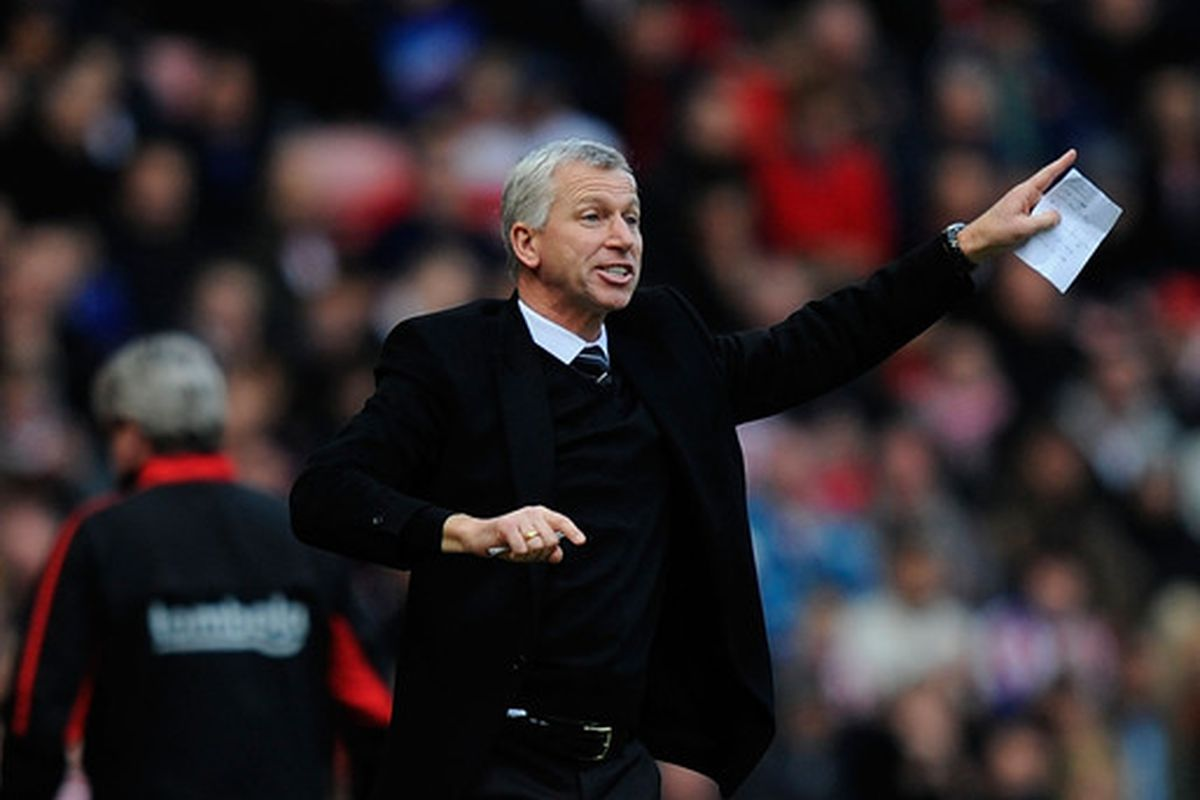 Pardew points out that you shouldn't spell your name in money