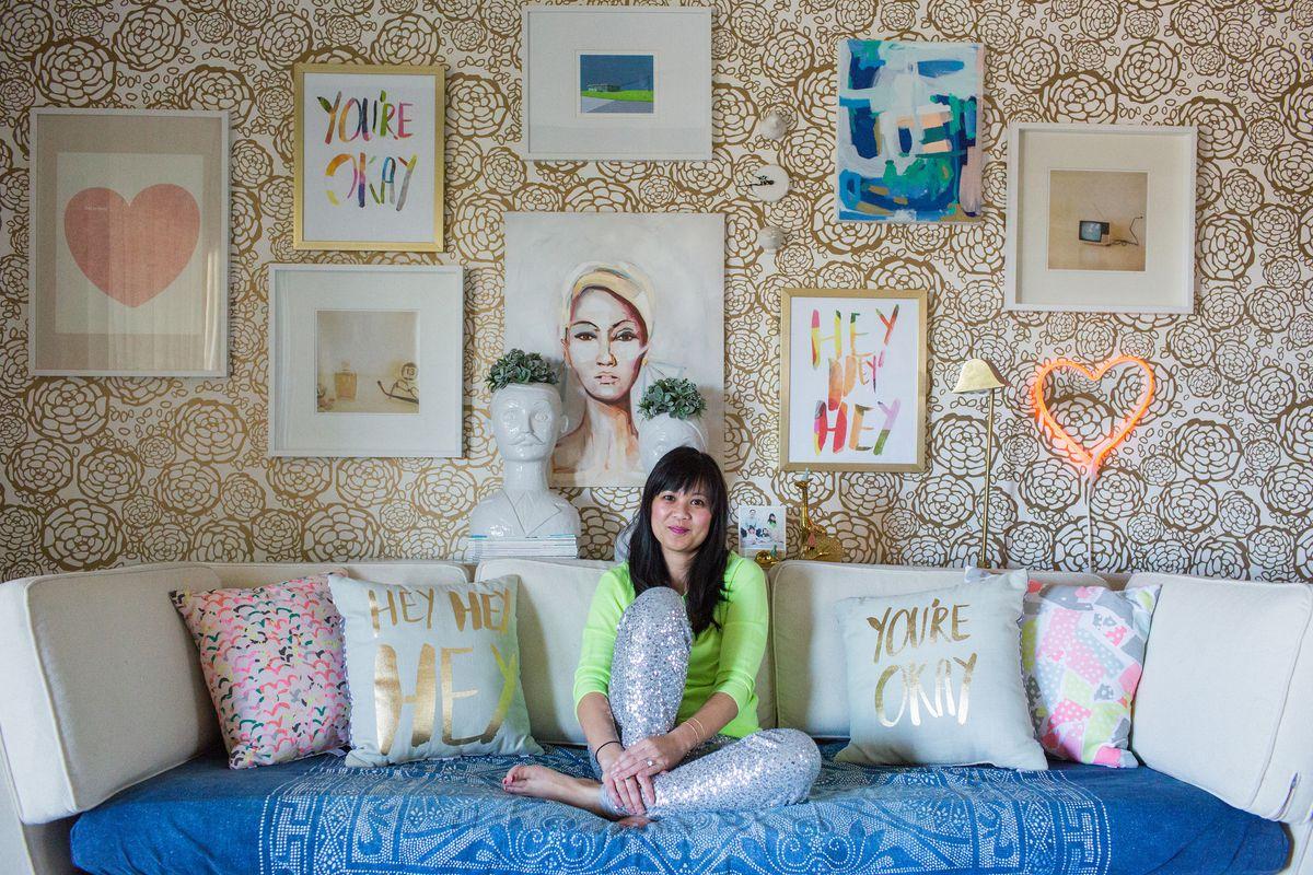 Joy Cho of Oh Joy! in her studio