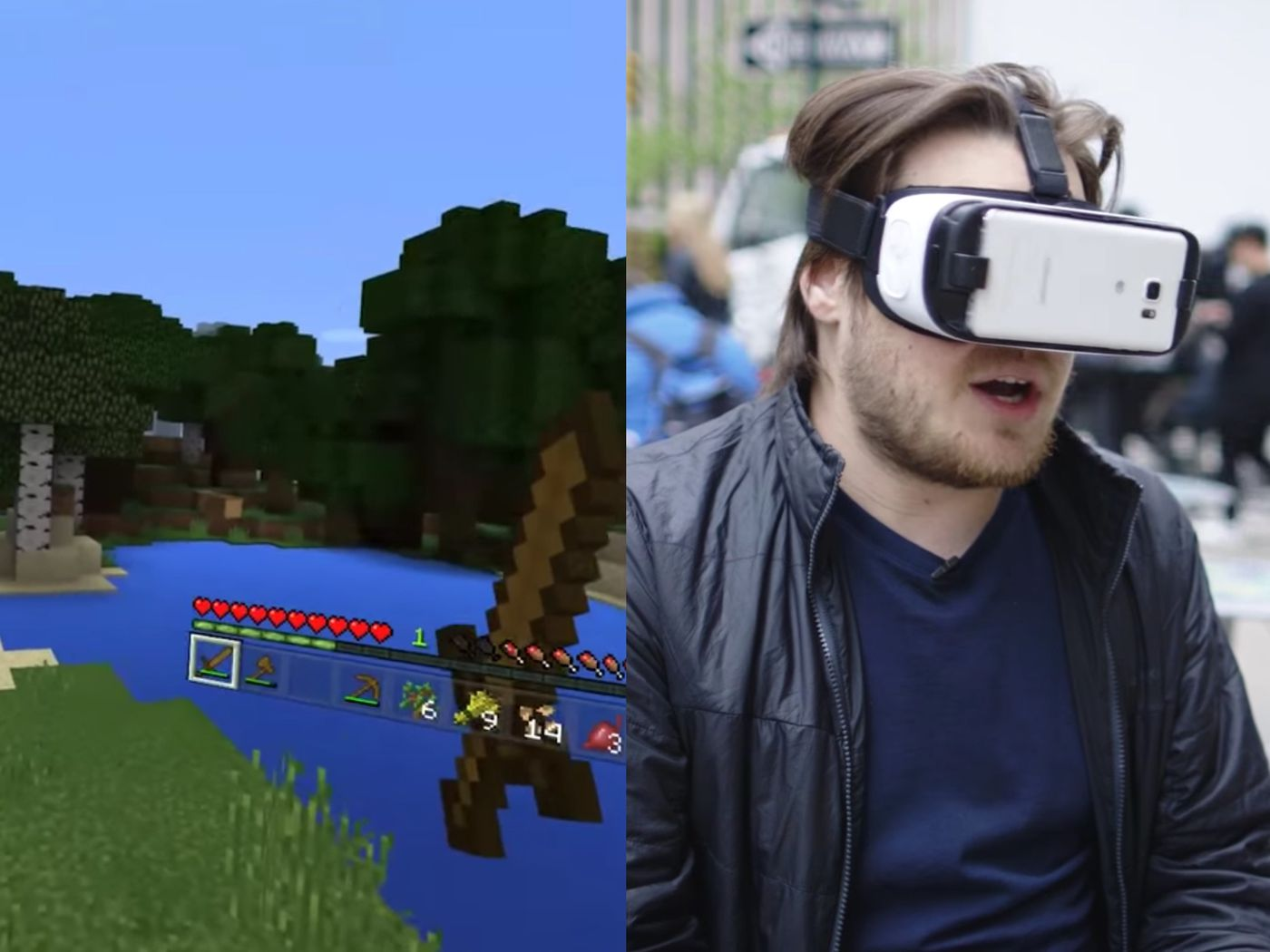 Minecraft is great in Gear VR - The Verge