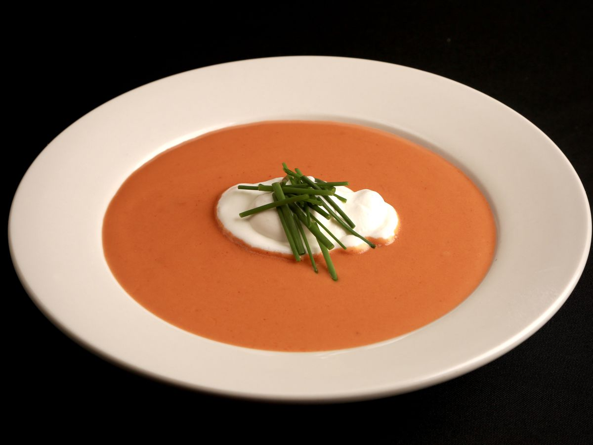 lobster bisque at skull's rainbow room in printer's alley in nashville
