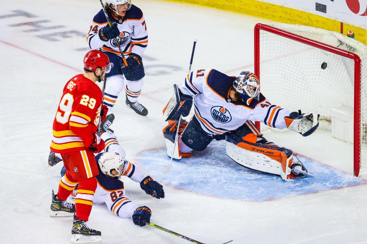 NHL: Edmonton Oilers at Calgary Flames