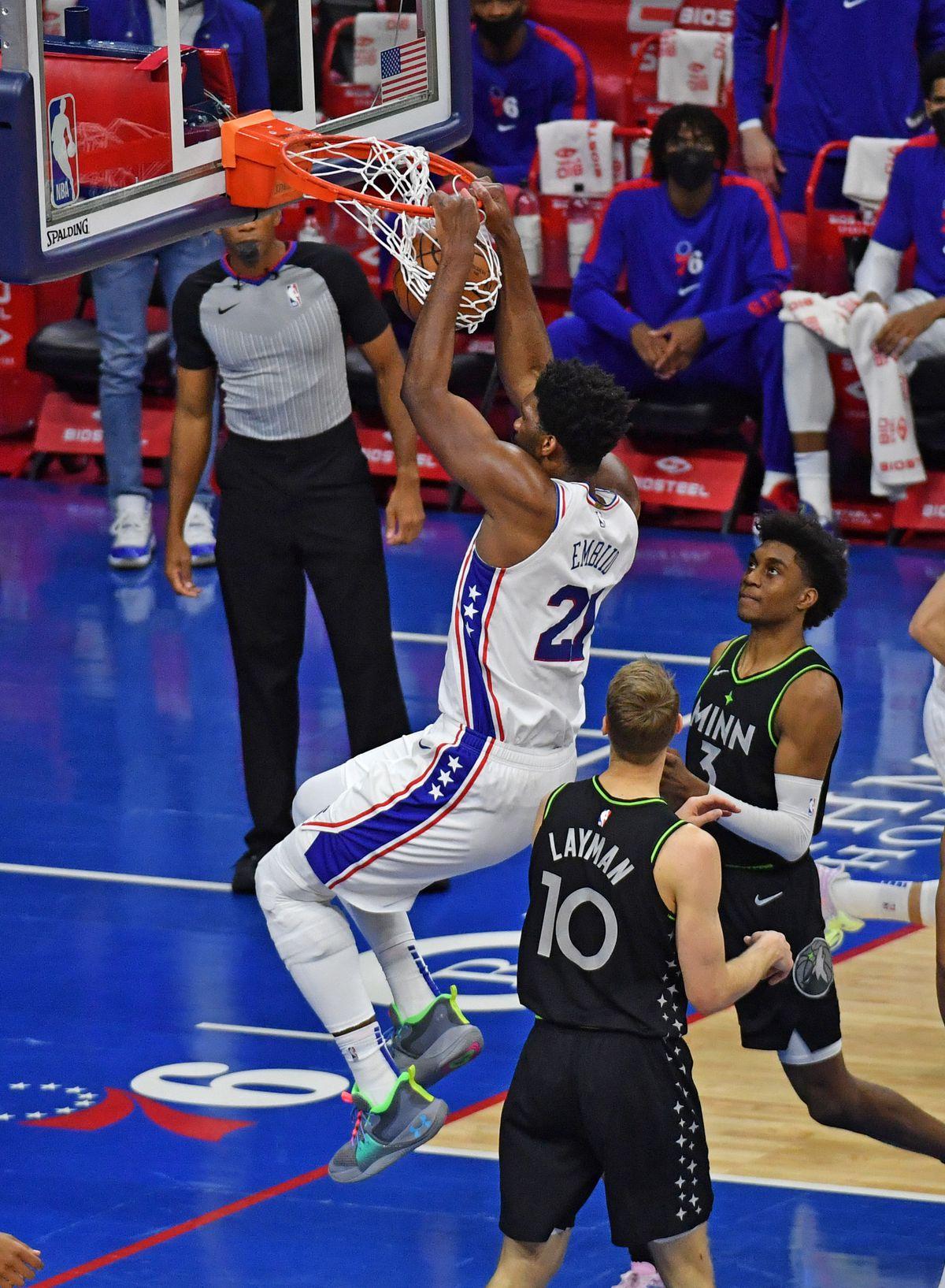 NBA: Minnesota Timberwolves at Philadelphia 76ers