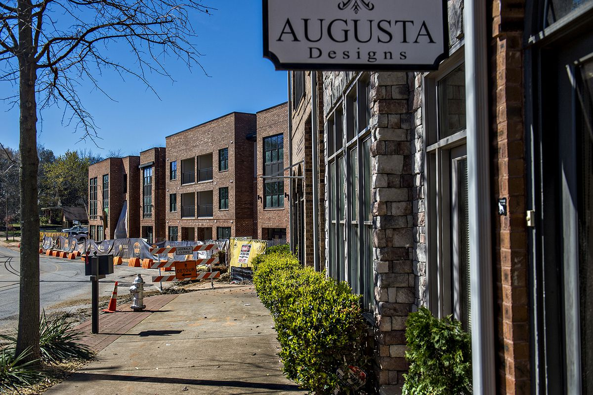 How the apartment project relates to existing retail and residential hub Kirkwood Station.