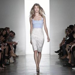 Fashion from the Spring 2013 collection of Peter Som is modeled on Friday, Sept. 7, 2012 in New York.