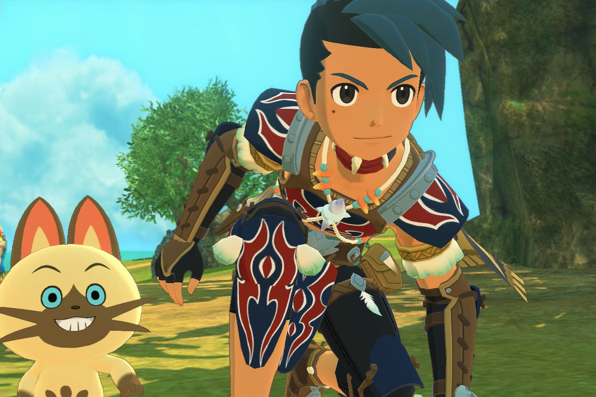 A Rider and Navirou look confident in Monster Hunter Stories 2: Wings of Ruin