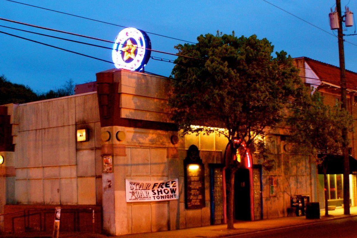 Star Bar on Moreland Avenue in Little Five Points Atlanta at dusk