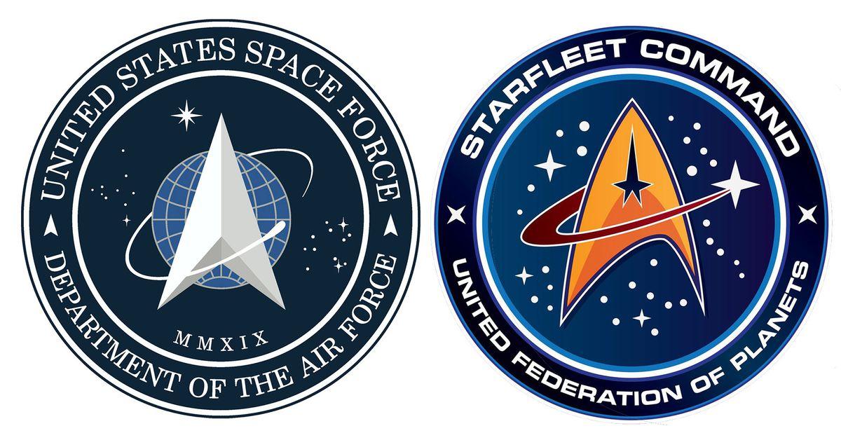 Space force starfleet trump juxtaposed