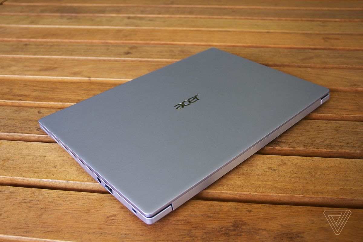 The lid of the Acer Swift 3, closed.