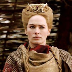 Season 1: Whoa, Cersei went for a full-on severe updo. So aging!