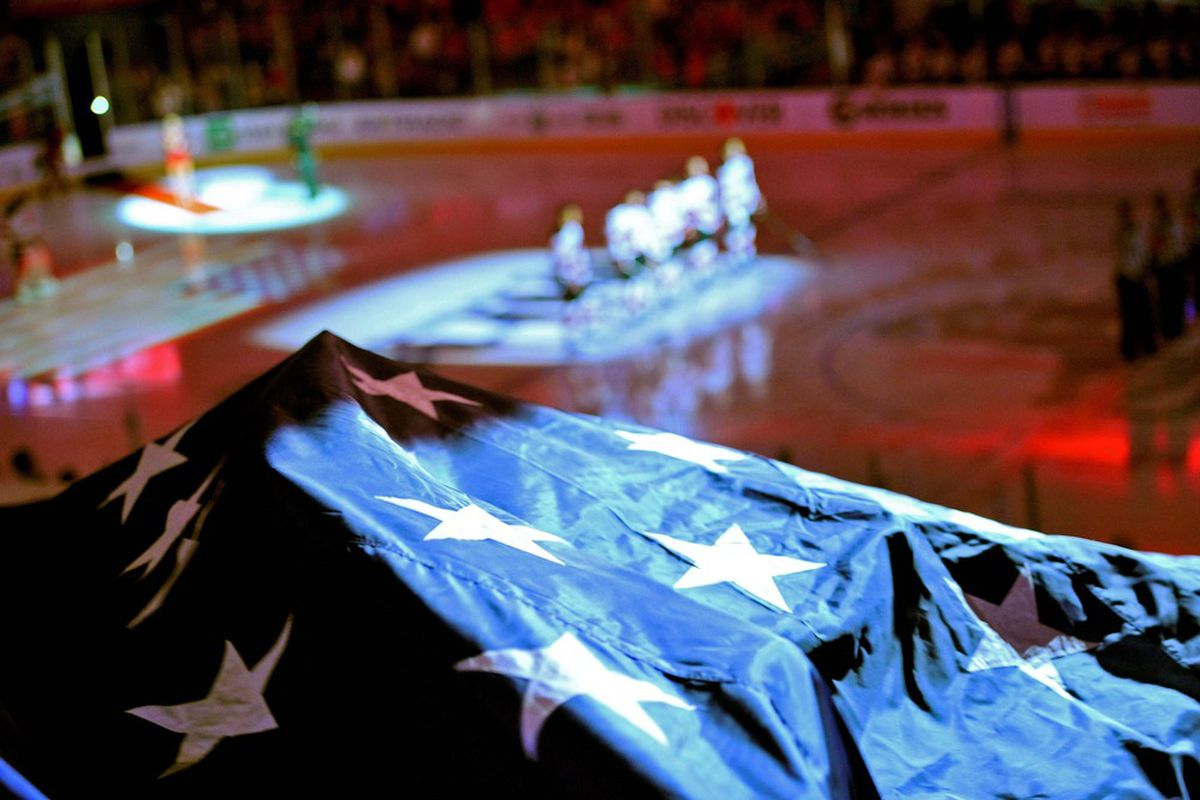 Here's to the US of A, the greatest hockey country except for that other one in the world!