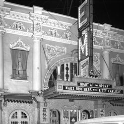 """The Marx Brothers movie """"Night at the Opera"""" is featured at the old GEM theater in the late 1930's."""