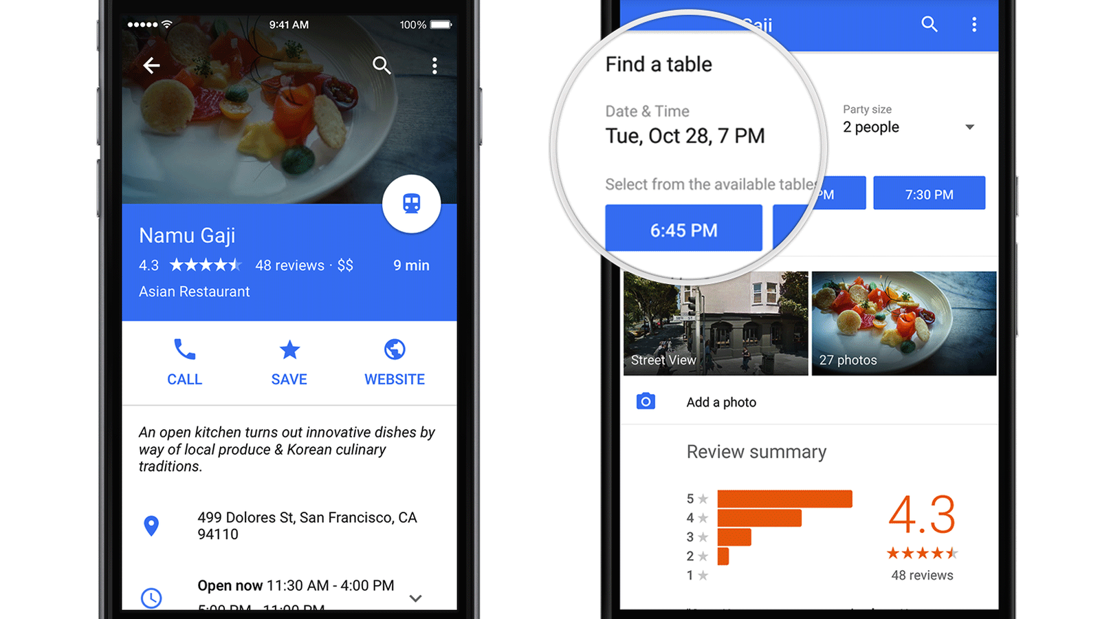 Google Maps Partners With Opentable To Offer Restaurant