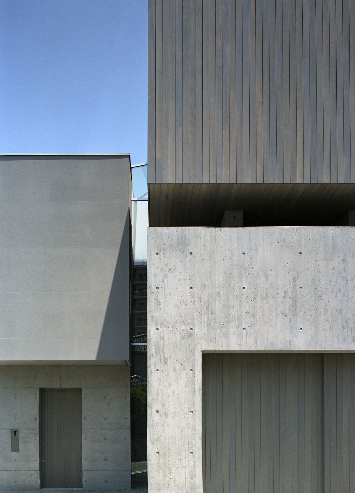 Outside of concrete house
