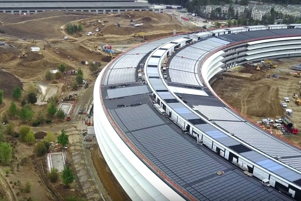 The ring of Apple Park.
