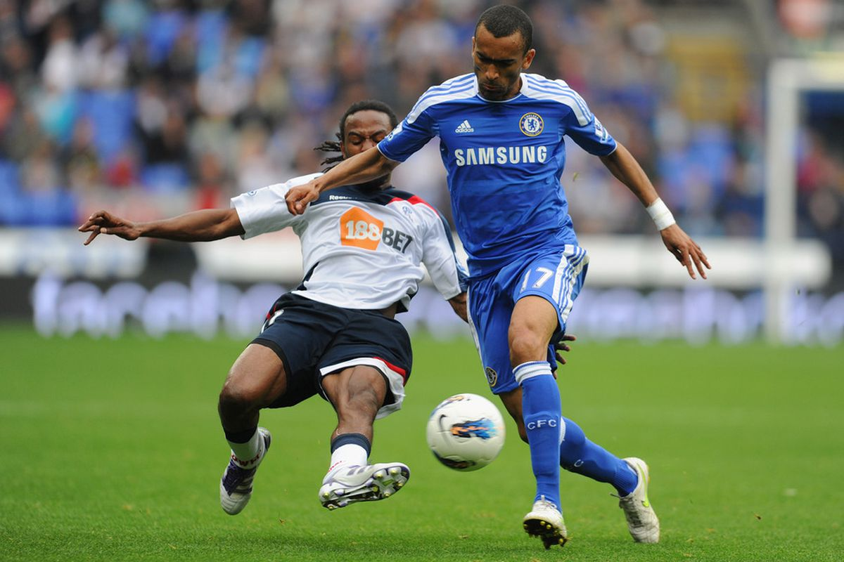 Ricardo Gardner is shown here with a fine tackle on Jose Bosingwa, which few of us can really be opposed to.
