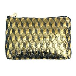 """<b>Patch NYC</b> Gold Geometric Bag, <a href=""""http://www.patchnyc.com/products/sparkle-bags-ed11132"""">$52</a>"""