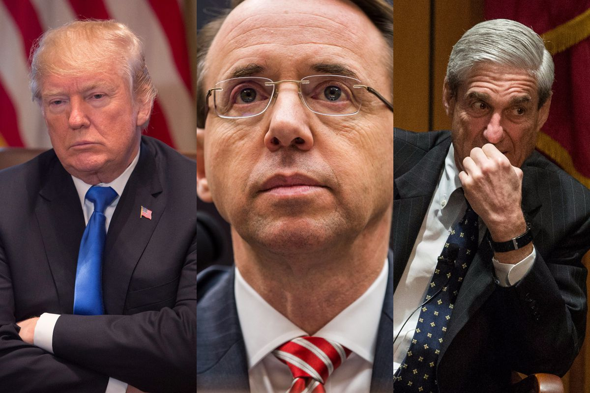 Image result for photos of trump and rosenstein
