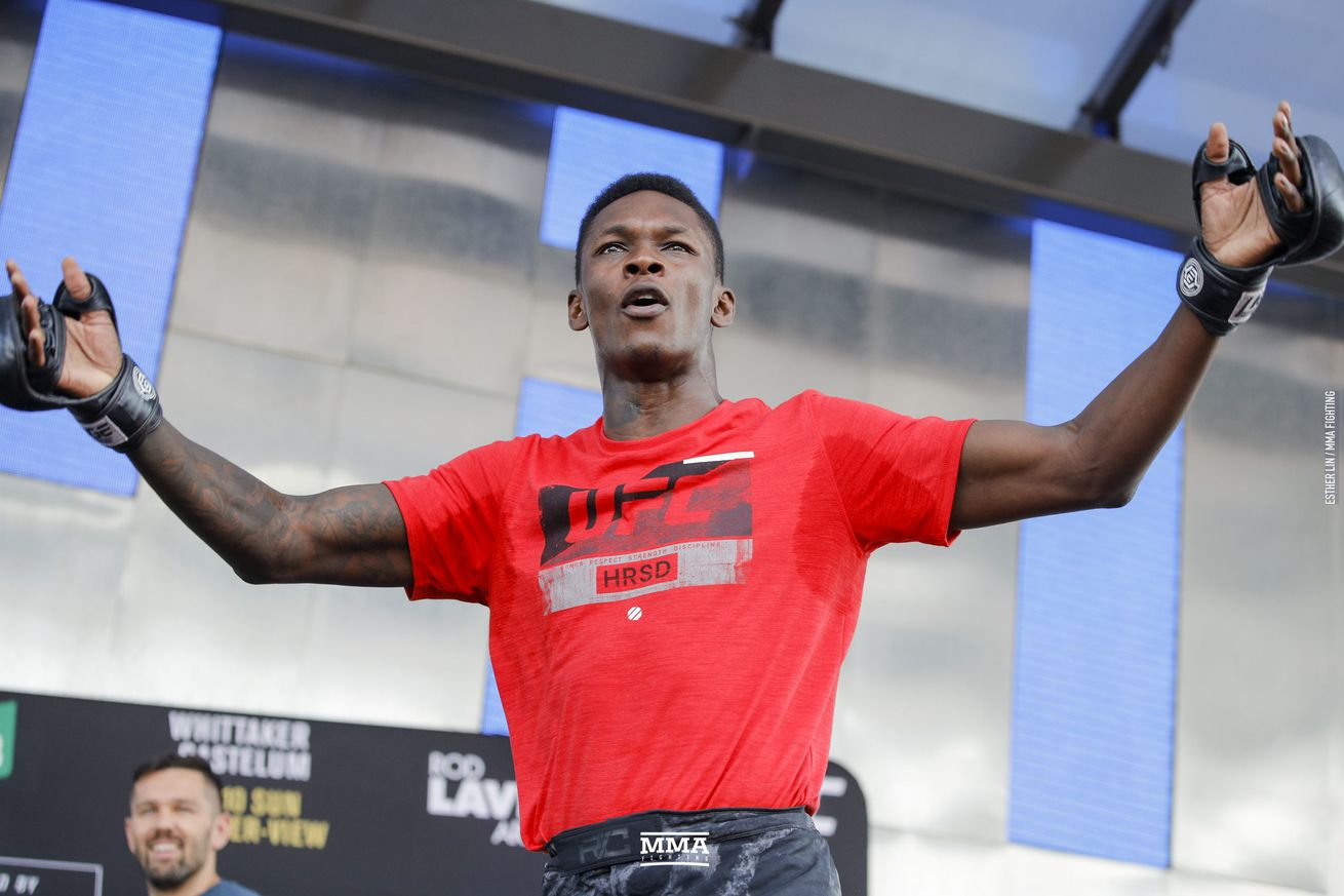 Israel Adesanya (pictured) fights Anderson Silva in a middleweight bout in the co-main event of UFC 234 in Melbourne, Australia, on Saturday