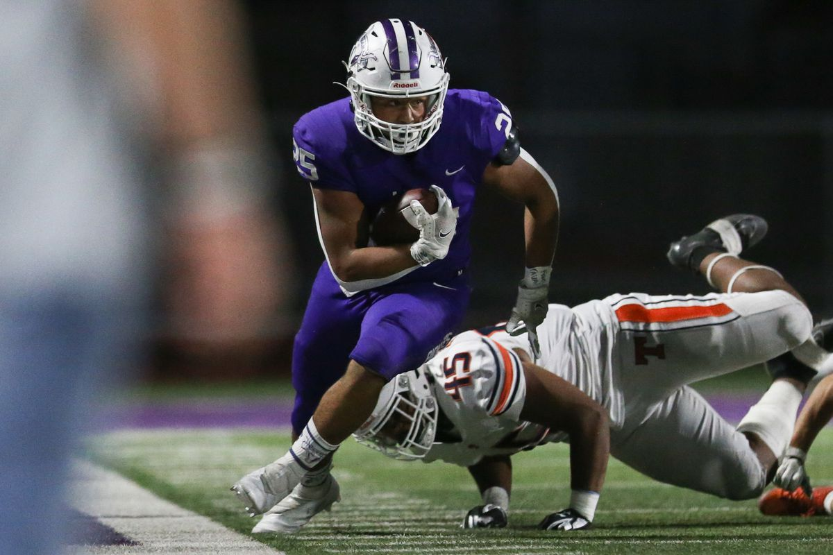 Lehi takes on Timpview during a high school football game at Lehi High School in Lehi on Friday, Sept. 25, 2020.