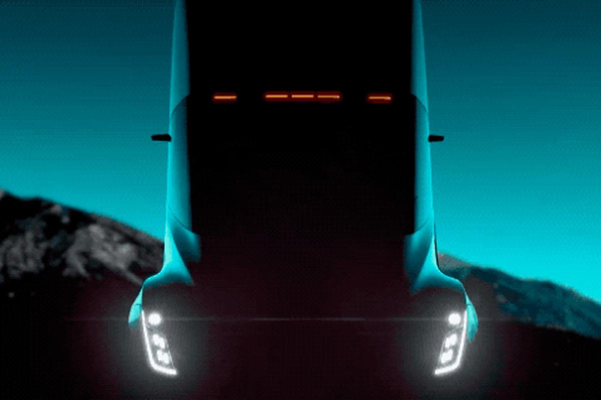 Screenshot of Tesla electric semi truck