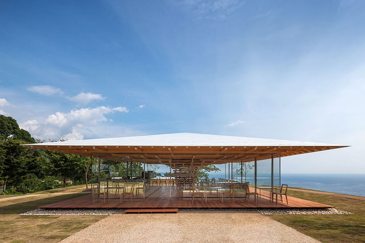 Kengo Kuma Designs Tree Inspired Cafe With Ocean Views