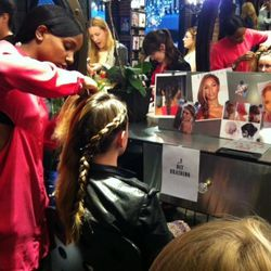 The DIY braiding station was the most popular booth by far