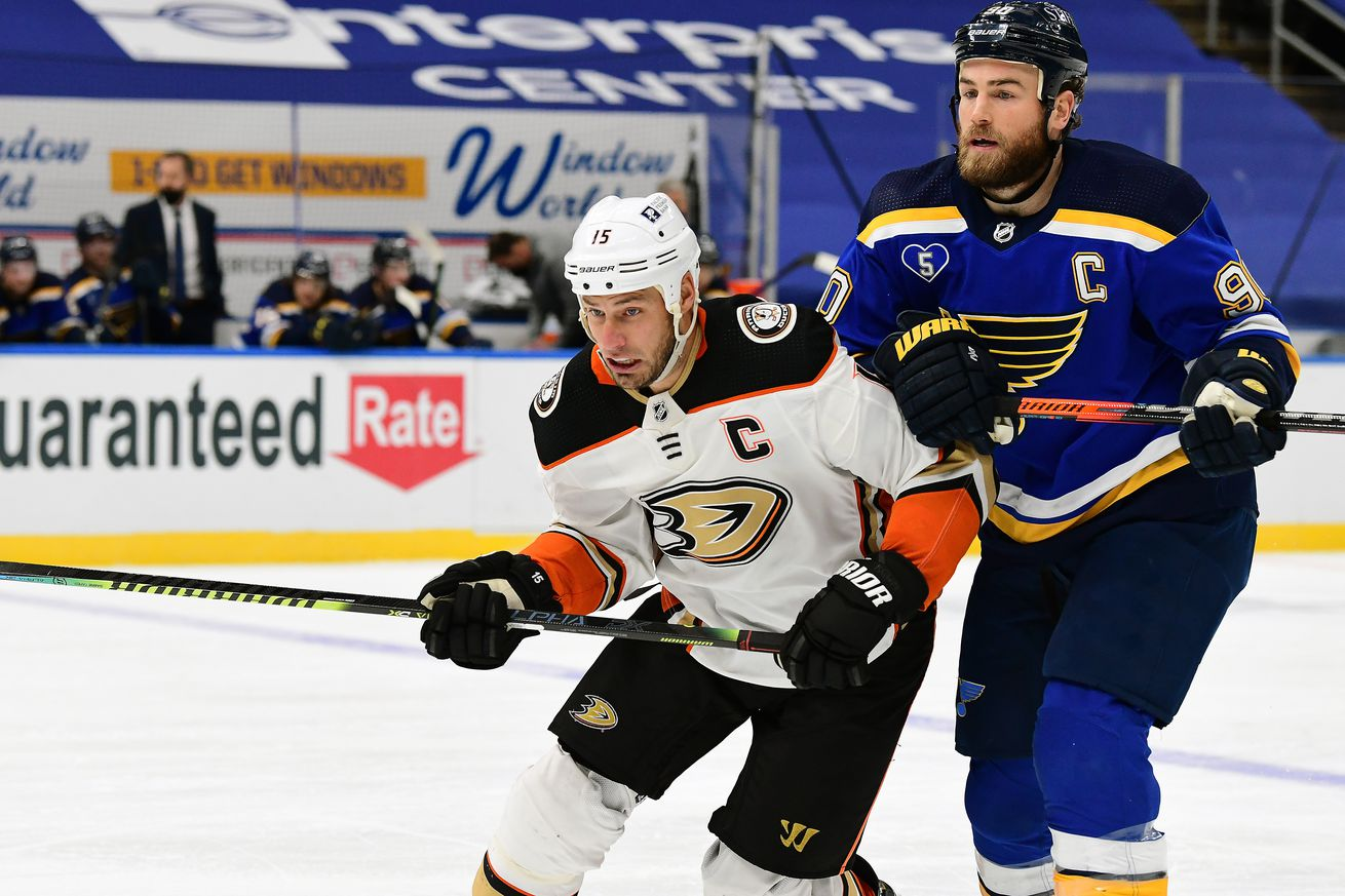 NHL: MAR 28 Ducks at Blues