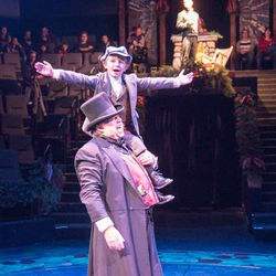 """David Weekes as Ebenezer Scrooge in Hale Centre Theatre's 2016 production of """"A Christmas Carol."""" Weekes plays Scrooge in this year's production on Tuesdays, Thursdays and Saturdays."""