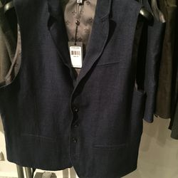 Collection vest, size 52, $179 (from $550)