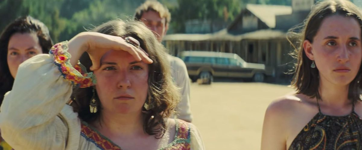 Gypsy (Lena Dunham) leads a pack of Manson girls in Quentin Tarantino's Once Upon a Time in Hollywood.